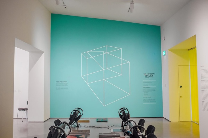 rize for Sculpture #branding #logo #wireframe #neon #green #turquoise #architecture #exhibition #gallery
