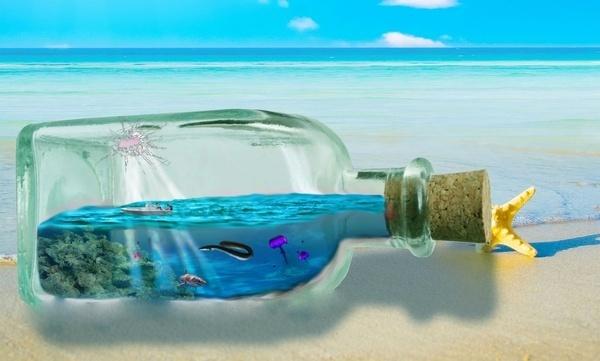 sea bottle #ocean #bottle #sea #beach #life
