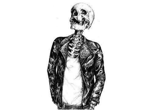FFFFOUND! #skull #skeleton #biker