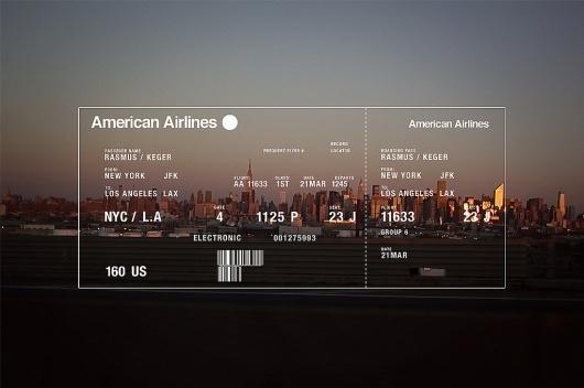 Rasmus Keger | Through the eyes of Rasmus Keger #photography #ticket #flight #typography
