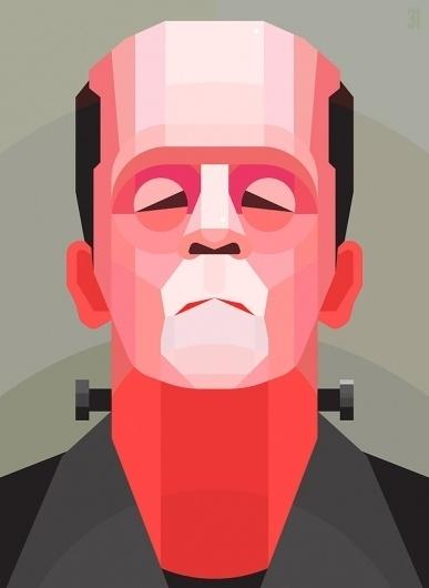 Frankenstein on the Behance Network #vector #frankenstein #geometric #illustration #portrait #monster #zombie