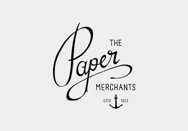 The Paper Merchants #lettering #design #logo #type #hand