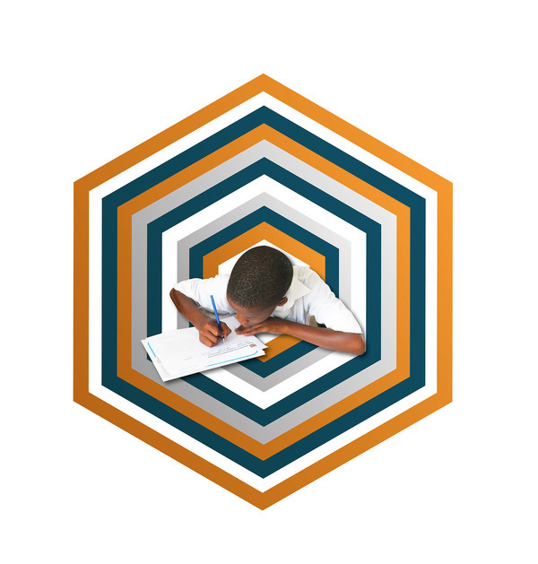 Education is key #design #orange #graphic #education #kids #blue #grey