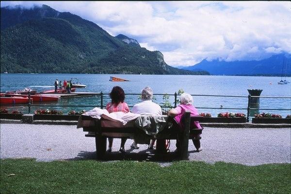Wonderful Austria   Triangular Love. #austria #nostalgic #triangle #lake #mountains #love