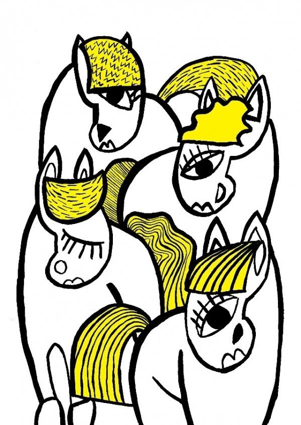 Sports Day poster. - Tess Redburn Illustration #illustration