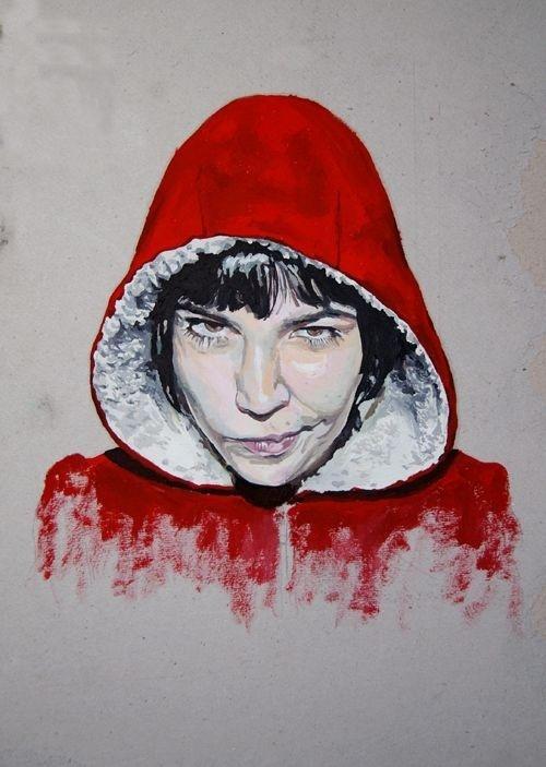 Damian Jagielski #hood #red #painting #oil