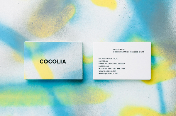 BRAND IDENTITYCOCOLIA2013 #business #card #design #spraypaint #layout