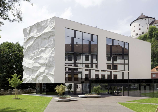Metaphor for the Uprising Generation: School Extension Integrating a Crinkled Wall #school #architecture