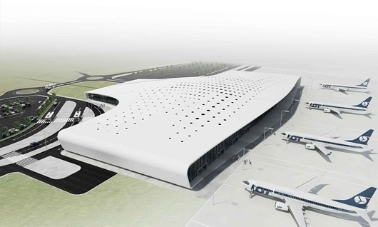 Bustler: Polish Lublin Airport to Be Redesigned by Intereuropean Team #modernism #concept #architecture #airport