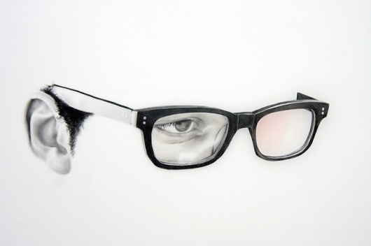 Astigmatic - langdongraves.com #glasses #graves #illustration #portrait #drawing #langdon