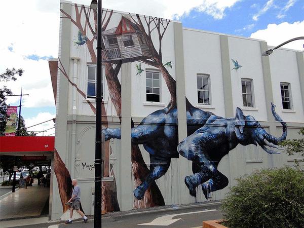 Guerilla Murals by Fintan Magee #mural #art #street