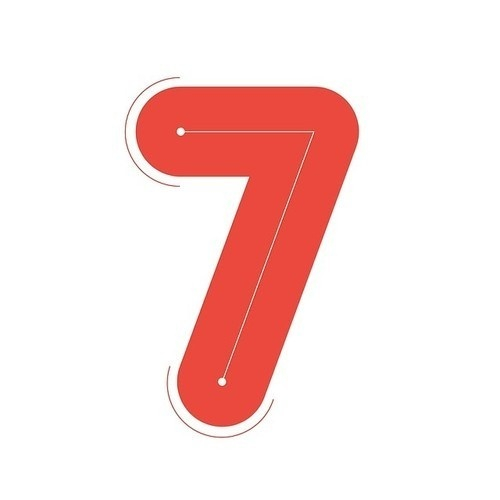 Seven #numbers #lettering #seven