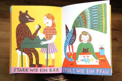 Katrin Stangl: Stark wie ein Bär #strenght #peacock #book #illustration #bear
