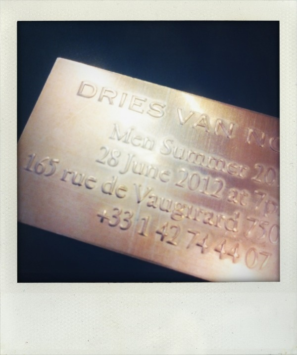 INSPIRATION OFTEN - selfservicemagazine: small metal Dries Van Noten... #invitation #typography