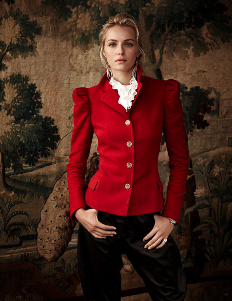 Valentina Zalyaeva by Richard Phibbs for Ralph Lauren's Campaign #fashion #model #photography #girl