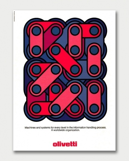 Olivetti Advertising, Early 1970s / Aqua-Velvet #design #poster