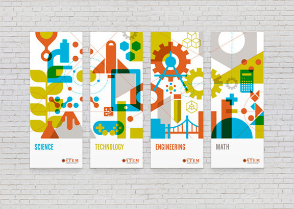 Graphic Statement: Mint Goes Bold for WaStem #illustration #overlay