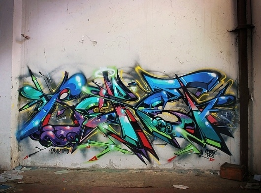 Super Colorful Graffiti by Sobekcis   Abduzeedo   Graphic Design Inspiration and Photoshop Tutorials #graffiti