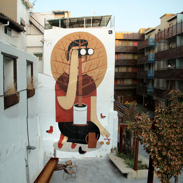 Agostino Iacurci #illustration #wall #character #painting