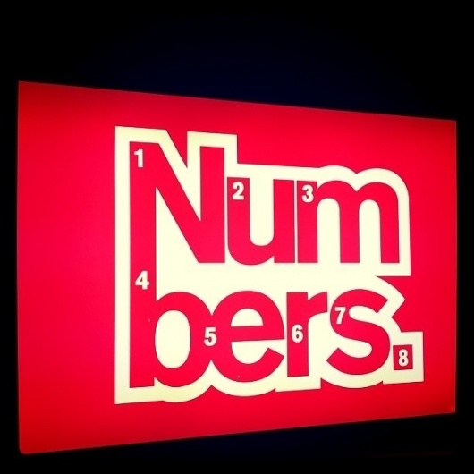 All sizes | Nmbrs | Flickr - Photo Sharing! #lightbox #red #glasgow #numbers #logo #club