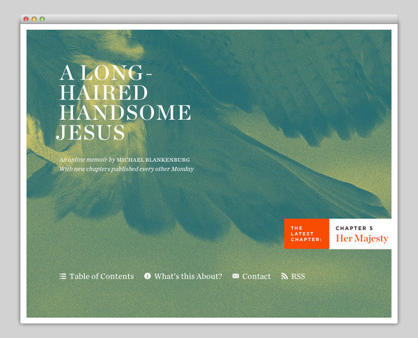 A Long Haired Handsome Jesus #website #layout #design #web