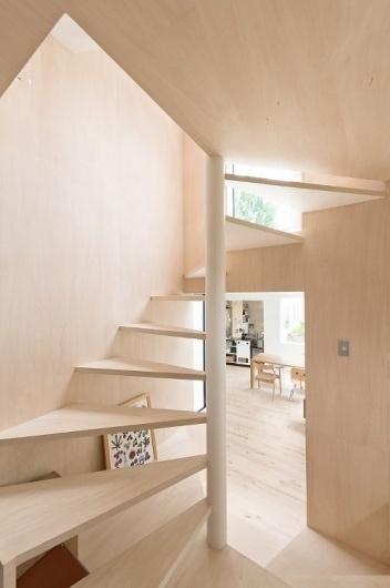 Skim Milk: Kumagai House in Japan by Hiroshi Kuno + Associates | Design Milk #stair #light #minimal