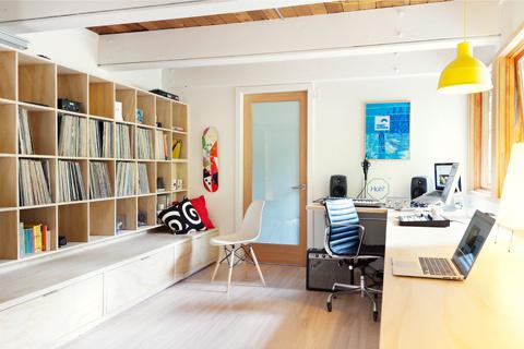 "The Studio of ""Coast Modern"" Filmmaker Gavin Froome #interior #miller #office #design #beautiful #herman"