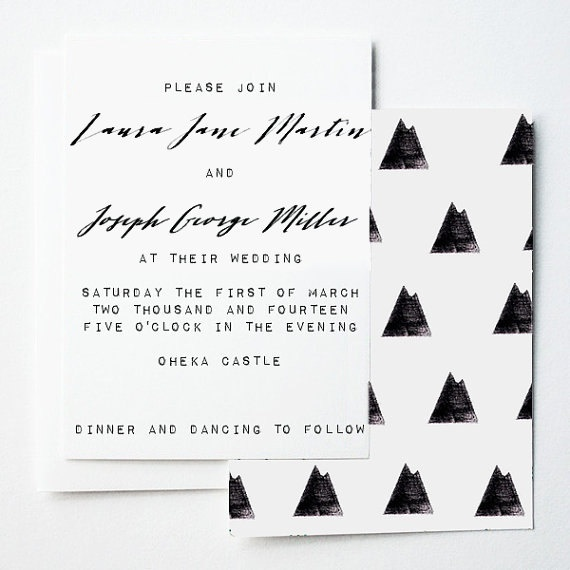 Best Wedding Invitation Mountain Print Shop Images On Designspiration