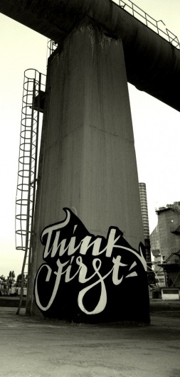 All sizes | Untitled | Flickr - Photo Sharing! #calligraphy #think #greg #first #brush #papagrigoriou #typography