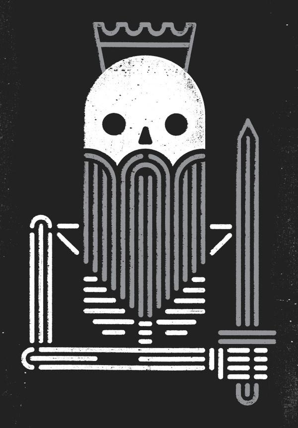 Dead king dribbble large #skeleton