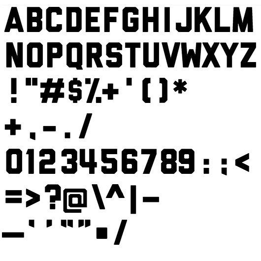 Ryan vs. Clark | Design & Illustration › Brushes and Fonts #block #lettering #liberator #typeface