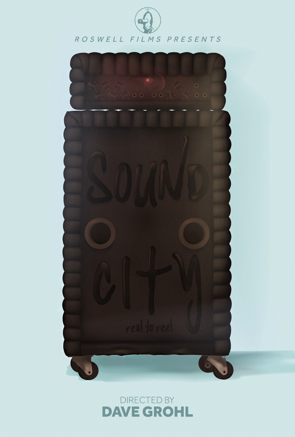 Sound City Unofficial Movie Poster Remix #movie #oconnell #design #graphic #manchester #james #illustration #poster #film #typography