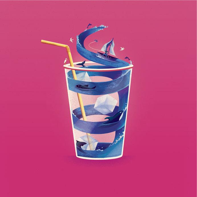 Jack Hudson_If_I_Was_Small_The_Tiny_Splash.jpg #design #graphic #illustration #layout #magazine #typography