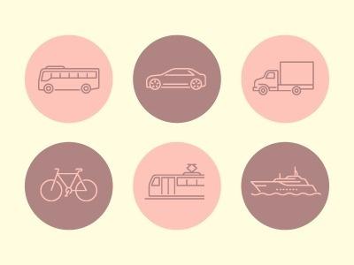 Transportation_icons #icon #symbol #pictogram #transportation