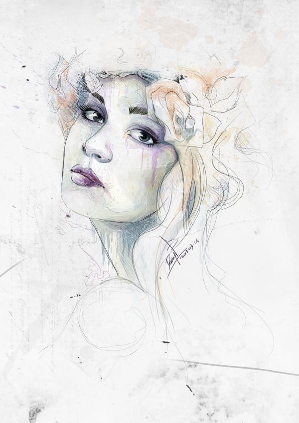 Digital WaterColor #woman