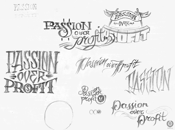 "Desired Hearts × 86era Tees — ""Pursue Your Passions"" on Typography Served #type #design #graphic #logos"