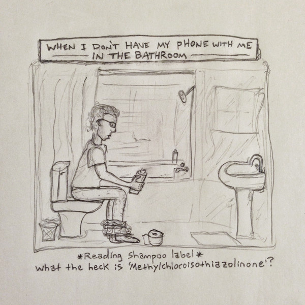 going to the bathroom without my phone #comic #iphone #drawing