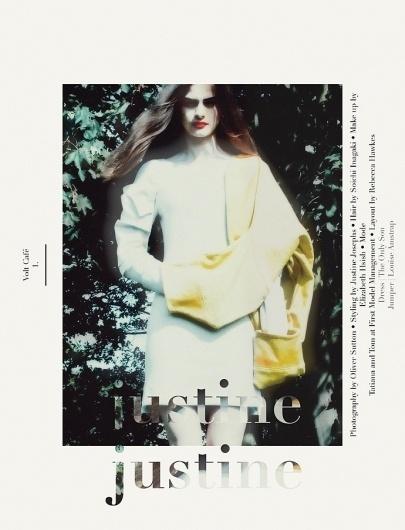 Justine | Volt Café | by Volt Magazine #beauty #design #graphic #volt #photography #art #fashion #layout #magazine #typography