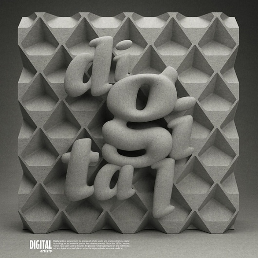 3D Digital type on the Behance Network