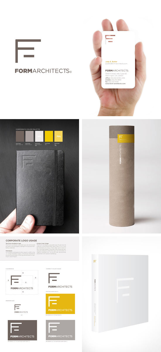 Form Architects Branding #notebook #pattern #business #branding #card #palette #brand #colors #identity #architecture #stationery #logo #typography