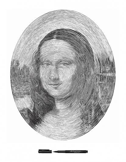 Faber Castell on the Behance Network #mona #faber #spiral #pen #lisa