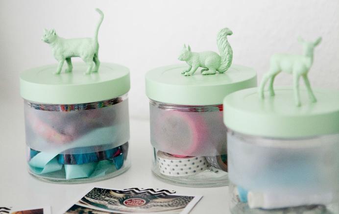Animals on jars