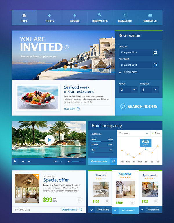 Hotel ui #web #ui