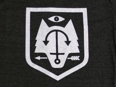 Dribbble Shield by Doublenaut #shield #wolf #arrow #logo #anchor