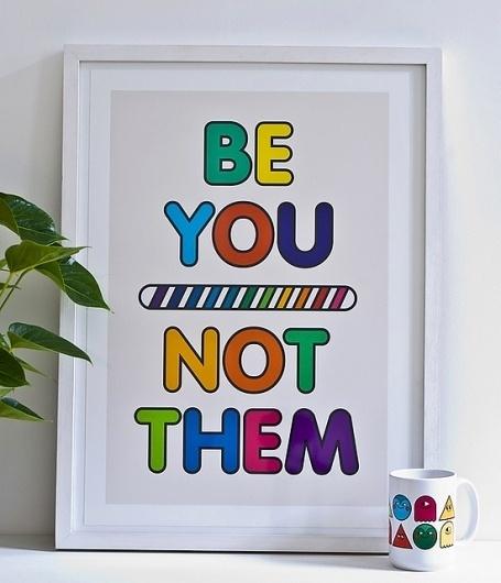 A Colourful Rebellion - A2 Print - Onesidezero / Brett Wilkinson #print #graphic #illustration #ty #art #poster #type #framed #typography