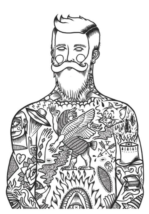 Tumblr #white #black #illustration #tattoo #and