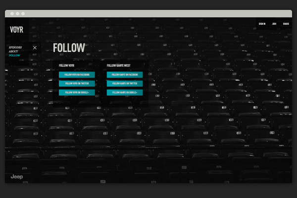 VOYR   Kanye West + Wardenclyffe Institute #website #design #branding