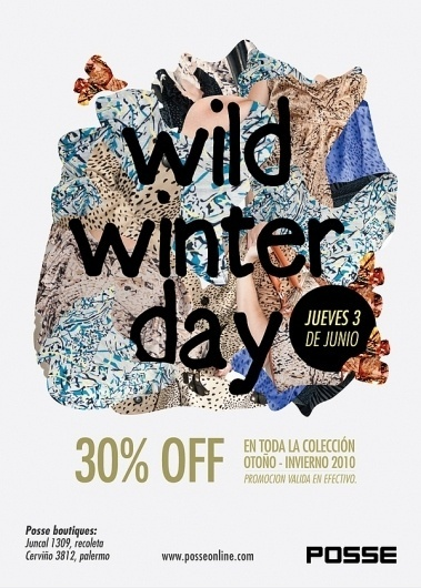 POSSE / e-cards on the Behance Network #fashion #flyer #design #winter