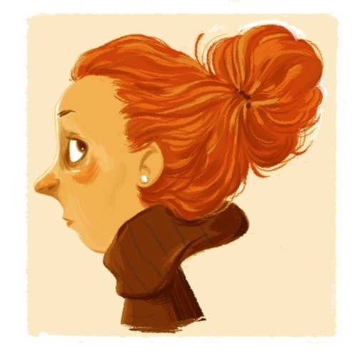 see sam sketch! #hair #drawn #orange #woman
