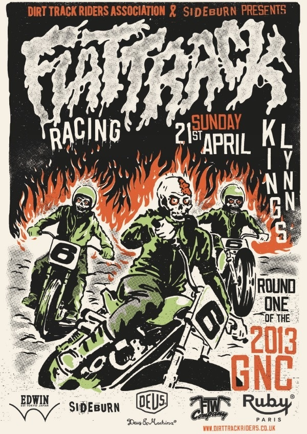 2013 DTRA poster #dsign #sideburn #motorcycle #undead #deus #poster #edwin #illustraion